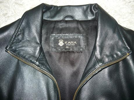 40 kožená bunda kara - čierna 63becadea22
