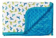 Baby ono luxusná obojstranná deka modrá 1410/04,