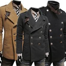 Slim fit double  kabát m až 2xl, l / m / xl / xxl