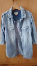 Riflova košeľa s 3/4 rukávmi, h&m,134