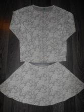 Mikina+sukňa 11/12 rokov, benetton,152