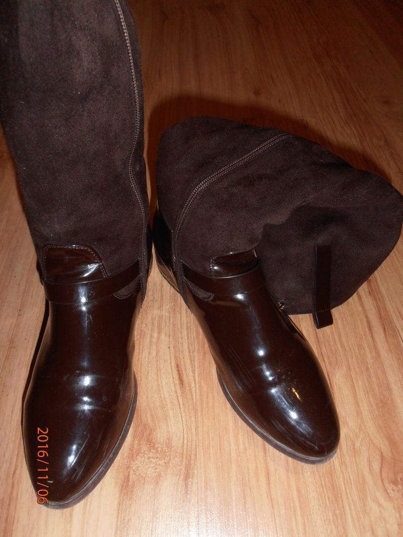 251635765d530 Hnedé lesklé čižmy, john garfield,37 - 11 € od predávajúcej yruska ...