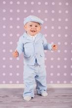 Detský oblek pre chlapca - suit 01 blue, 56 - 86