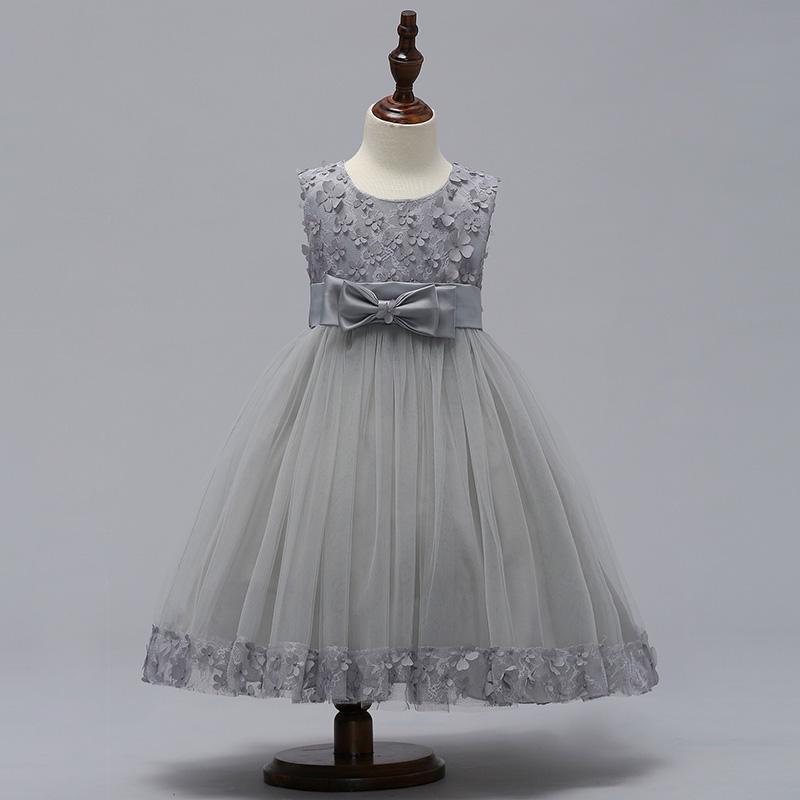 7148eb4c6774 Krásne detské šaty l314 - šedé