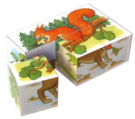 Drevene Kocky Lesne Zvieratka 6ks 6 49 Od Predavajucej