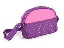 Prebaľovacia taška dots purple pink,