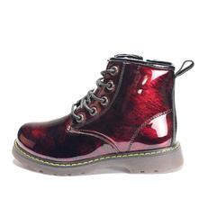 Dievčenské prechodné čižmičky lesklé červené, 24 - 34
