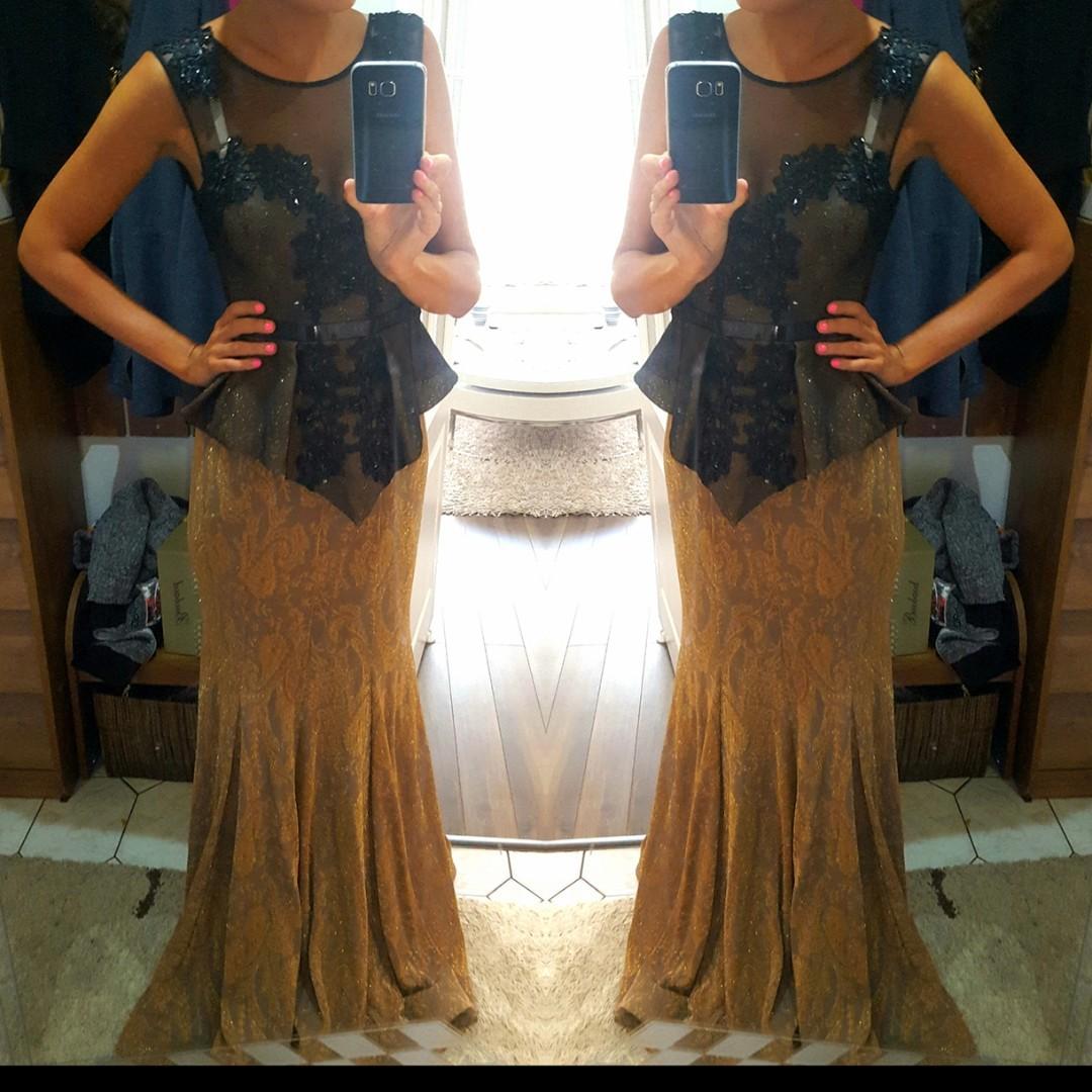 Spoločenské šaty čierno zlaté 58938fb064