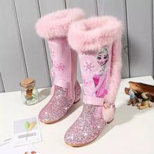 Dievčenské zimné čižmy s kožušinkou - elsa ružové, 24 - 36
