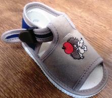 Sandálky s výšivkou na zakláp. pracku -viac farieb, s´botex,19 - 27