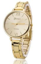 Luxusní dámské hodinky geneva slim zlate 9d3b609edd