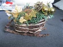 Vianočná dekorácia - sane,