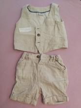 Set ľanového letného oblečka..nohavice a vestička, f&f,86