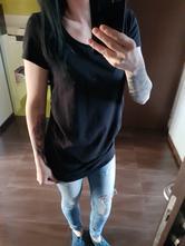 H&m basic tehotenské tričko, h&m,l