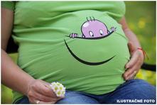 Tehotenské tričko s vtipnou potlačou , l / m / s / xl / xxl