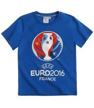 Uefa euro 2016 tričko s krátkym rukávom modrá, 104 / 116 / 128 / 140