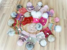 Ručne pletene čiapočky ihneď k odberu, 62 - 158