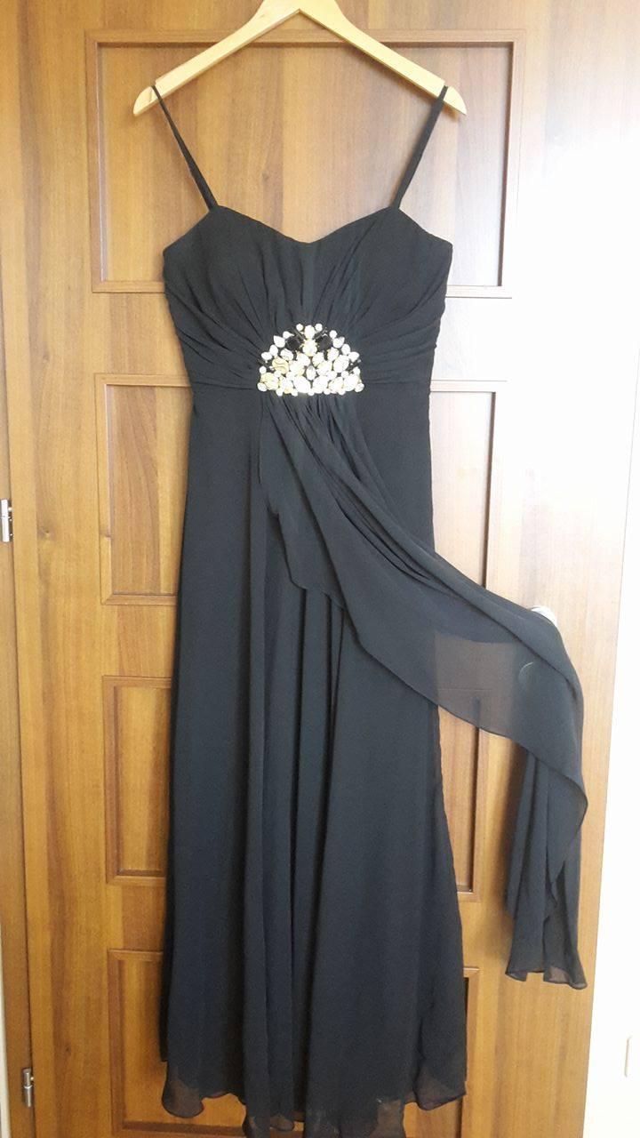 Spoločenské čierne šaty 263dc19a9dd