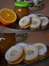 Pomarančové linecké pečivko s domácim pomarančovým džemom :)