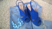 Sandálky v kráľovskej modrej, 38