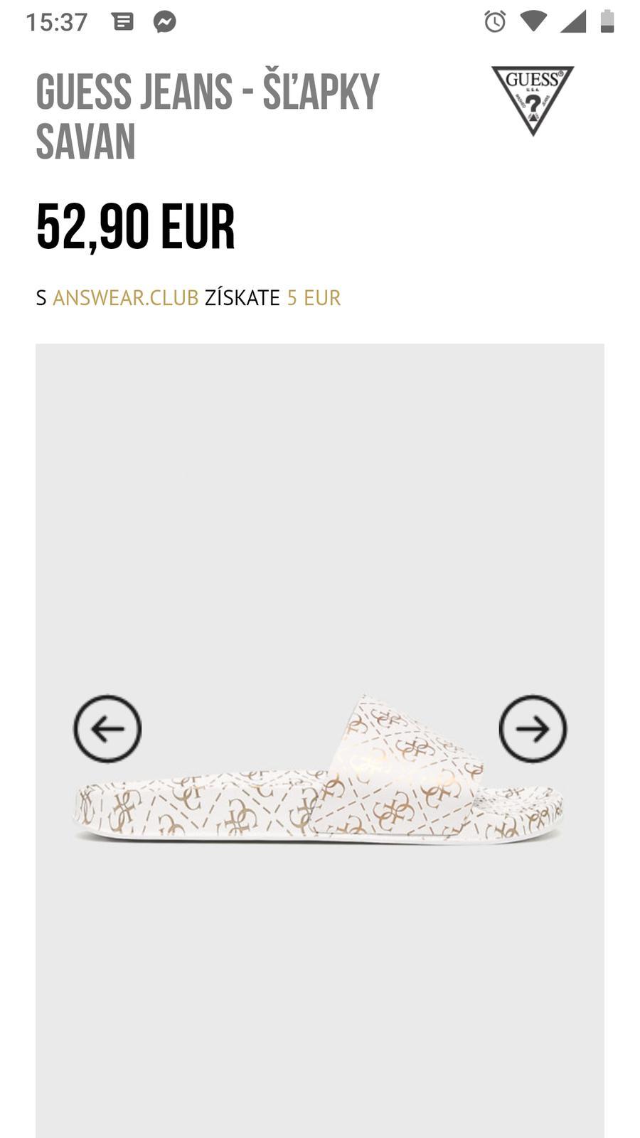 db6191d9c Guess damske slapky, guess,39 - 38,50 € od predávajúcej lusy2722 ...