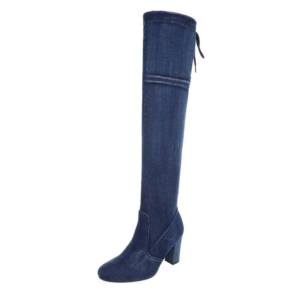 Riflové čižmy nad kolená jeans a3ad82e3eb6
