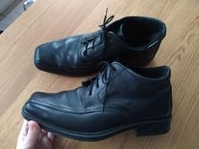 06fcec22c9b3 Kožené pánske elegantné topánky na zimu č. 41