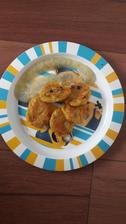 Placky z vareneho zemiaku s tekvicou a mrkvou s cuketovym pyre