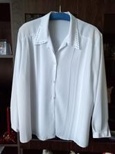 Blúzka biela s dlhým rukávom v. xxxl, xxxl