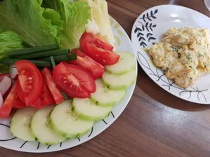 Večera-Zelenina a praženica s droždím