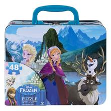 Frozen puzzle v plechovom kufríku,