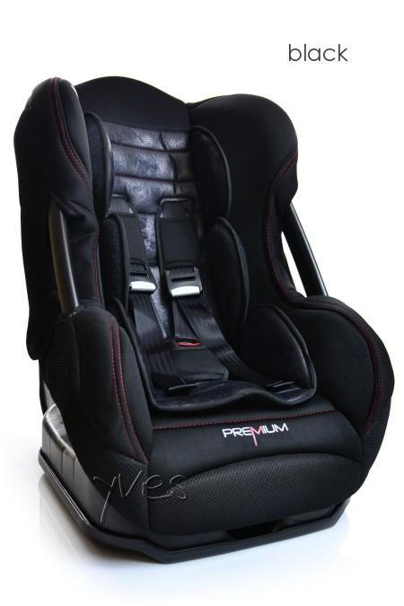Nania Cosmo SP Premium 0- 18 kg Black - polohovateľná