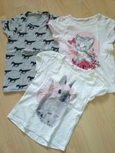 Zvierakové tričká,  3 kusy, h&m,110