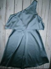 Pastelovo modré saténové šaty xs s 1479ef444d2