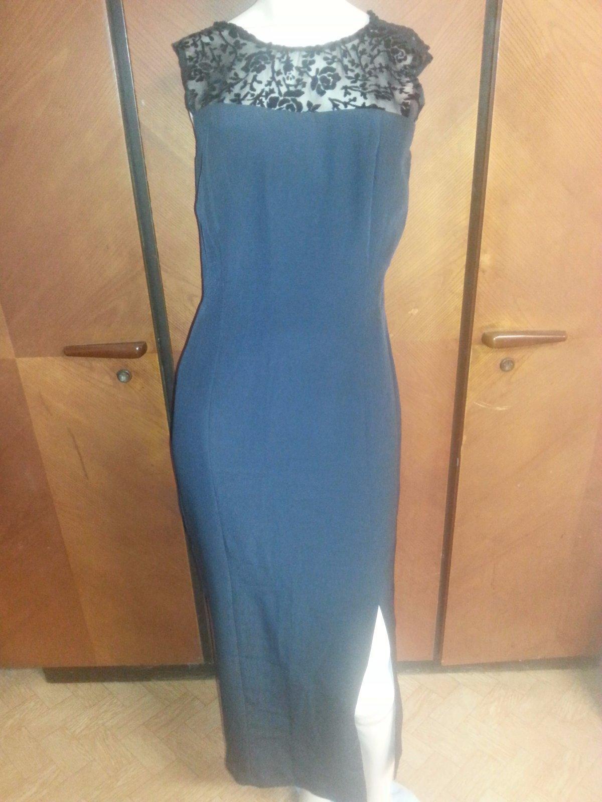 Čierné dlhé šaty m-l 4e0bcce384b