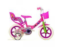 Detský bicykel dino124rltro so sedačkou pre bábiky,