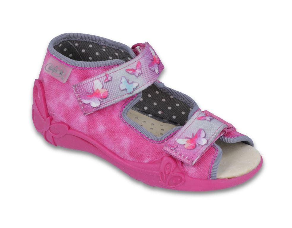 66a149df687e Dievčenské sandálky s motýlikmi