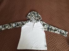 Maskáčové tričko s kapucou, primark,122