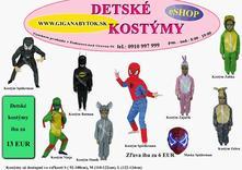 Detské kostýmy 3-10 rokov,
