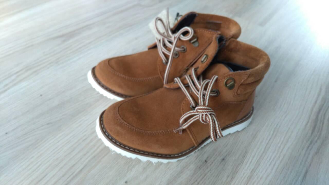 d030fe579ab6 Kožené prechodné topánky