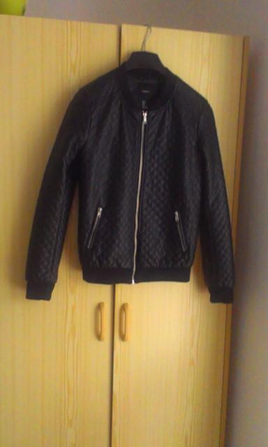 62a6b6ae7a90 Čierna dámska koženková bunda veľ.s zn.forever 2