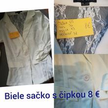 Biele čipkované sako, gate,38