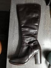 Tmavohnedé kožené čižmy, lasocki,36