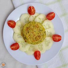 1r.+ BRAMBOROVO-CUKETOVÉ PLACKY s okurkou a rajčátky