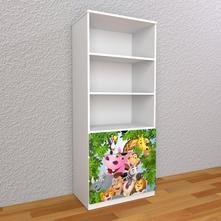 Detská knižnica 180cm - madagaskar,