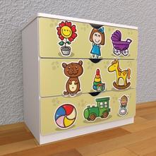 Detská komoda - hračky - m,