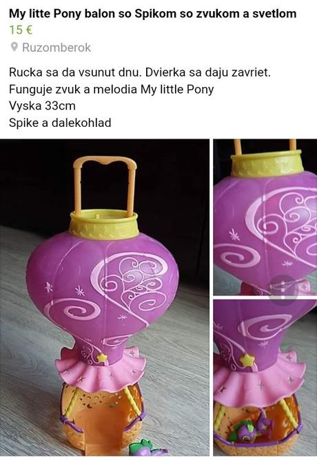 Balon my little pony so spikom b4ebbc31550