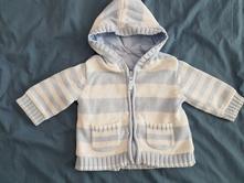 Podšitý sveter na zips, george,68