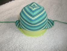 Zelená pruhovaná čiapočka dvojvrstvova, lindex,80