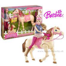 Barbie šampiónka s chodiacim koňom,